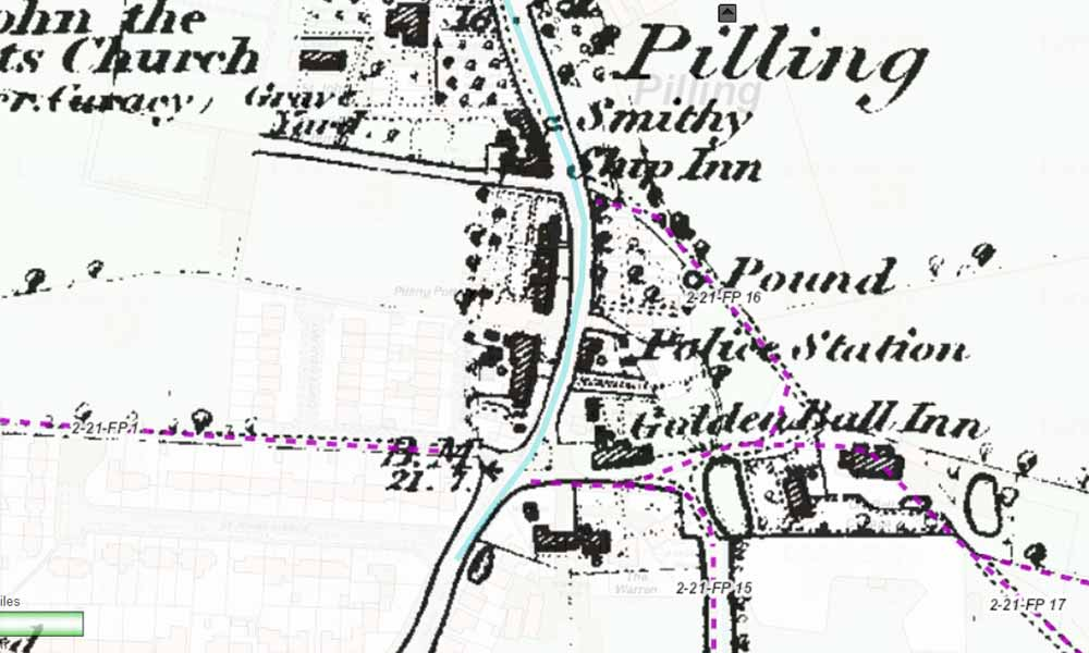 pinfold within pilling parish council map