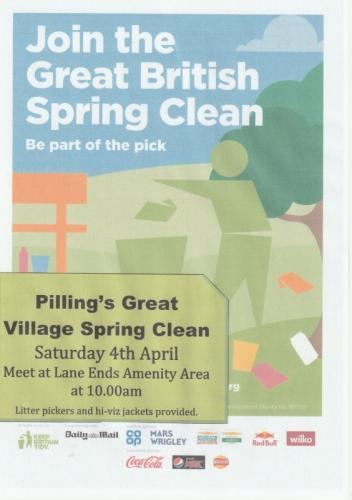 Pilling's Great Village Litter Clean CANCELLED
